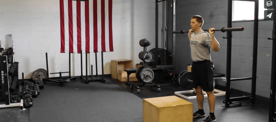 Strength: Barbell Box Steps with Follow Through [VIDEO]